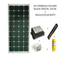 Antarion - Kit panneau solaire 120w pour camping car Black booster