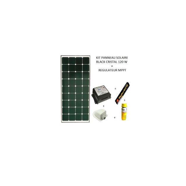 antarion kit panneau solaire 120w pour camping car black booster pas cher achat vente. Black Bedroom Furniture Sets. Home Design Ideas