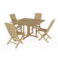 Table jardin teck pliante - Achat Table jardin teck pliante - Rue du ...