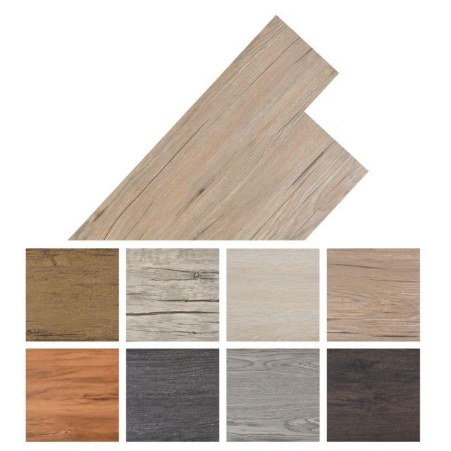 Vidaxl Planche de plancher Pvc autoadhésif 36 pcs 5,02 m² Marron mat   Brun