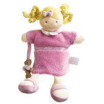 Doudou Et Compagnie - Marionnette peluche poupée rose