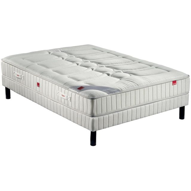 epeda ensemble matelas plaza 588 ressorts confort ferme 90x190 blanc pas cher achat vente. Black Bedroom Furniture Sets. Home Design Ideas