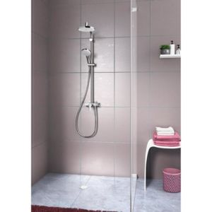 hansgrohe colonne de douche showerpipe verso 220 avec mitigeur m canique pas cher achat. Black Bedroom Furniture Sets. Home Design Ideas