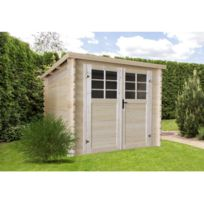 HABITAT ET JARDIN - Abri jardin bois -7.53 m² - 2.98 x 2.98 x 1.92 m - 28mm