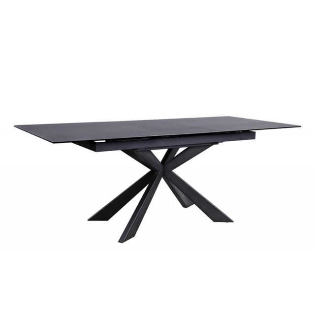 Table De Repas Extensible Céramique Gris Anthracite Starlight