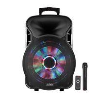 Party Sound - Enceinte mobile amplifiée 800W 15'' à Leds Rvb Usb/BT/SD/FM Party15