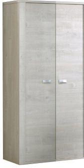 Comforium Armoire 100x202 cm à 2 portes coloris chêne blanc
