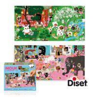 Diset - Puzzle 28 pièces : 2 puzzles histoires Mouk