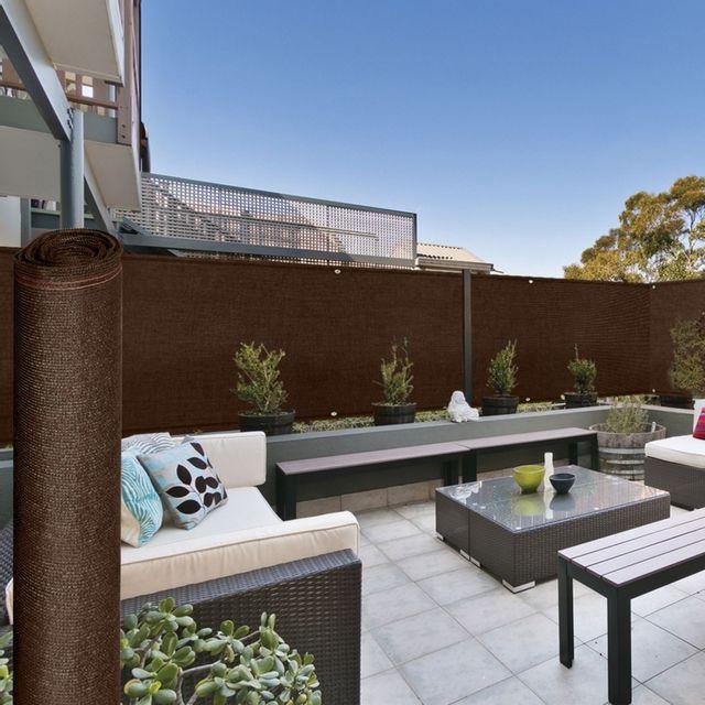 idmarket brise vue renforc 1 8 x 10 m marron 220 gr m. Black Bedroom Furniture Sets. Home Design Ideas