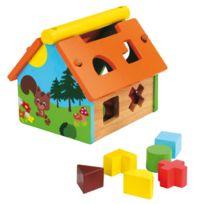 WOOD N PLAY - Boite à formes maison en bois
