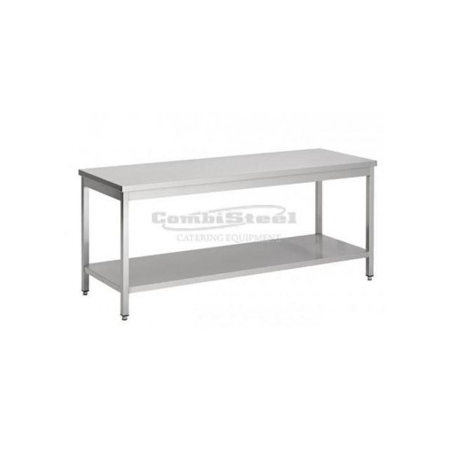 Combisteel Table Centrale Inox Sans dosseret - Gamme 700 inox 800x700 700