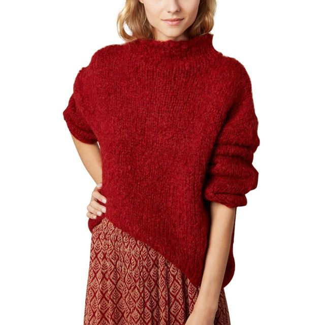 Hartford Pull oversize col tortue Myatis Rouge