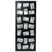 Atmosphera - Cadre photos pêle mêle géant design - 21 encarts - Noir