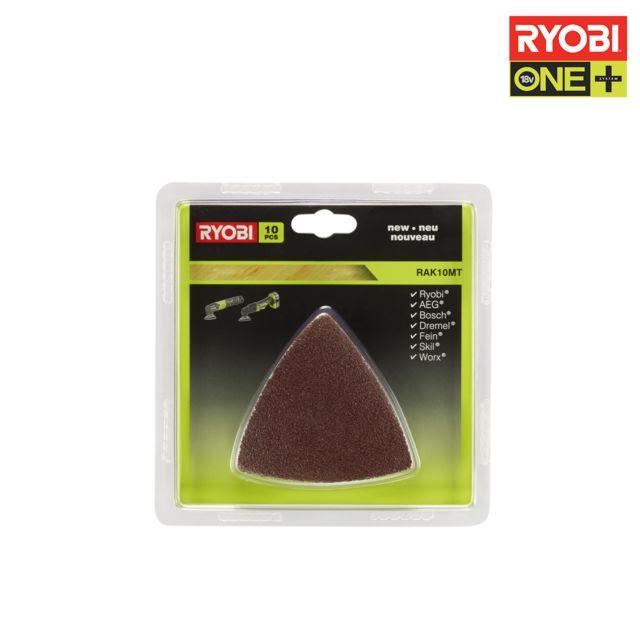 ryobi kit 10 triangles abrasifs multitool oneplus rak10mt pas cher achat vente accessoires. Black Bedroom Furniture Sets. Home Design Ideas