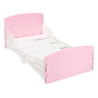 Kidsaw - Lit enfant en bois rose et blanc simple facile à assembler 70 x 140 cm