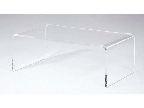 vente unique table basse leslie acrylique transparent pas cher achat vente meubles tv. Black Bedroom Furniture Sets. Home Design Ideas