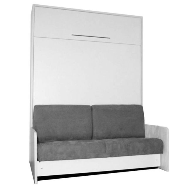 Inside 75 Space Sofa Fast Armoire Lit Escamotable 140cm Blanche