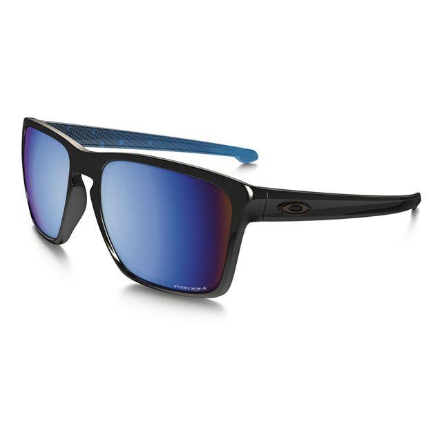 c8ae265e70 Oakley - Lunettes Sliver Xl noir brillant avec verres Prizm Deep Water  Polarized - pas cher Achat   Vente Lunettes - RueDuCommerce