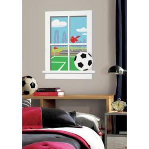 mon beau tapis stickers trompe l 39 oeil fen tre terrain de football g ant roommates. Black Bedroom Furniture Sets. Home Design Ideas