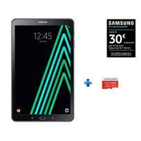 Samsung - Galaxy Tab A6 - SM-T580NZKAXEF - Wifi - Noir + Micro SDHC EVO Plus 32 Go + Adaptateur SD