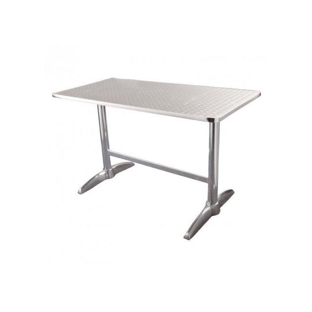 Materiel Chr Pro Table rectangulaire à deux pieds Bolero 1200 mm