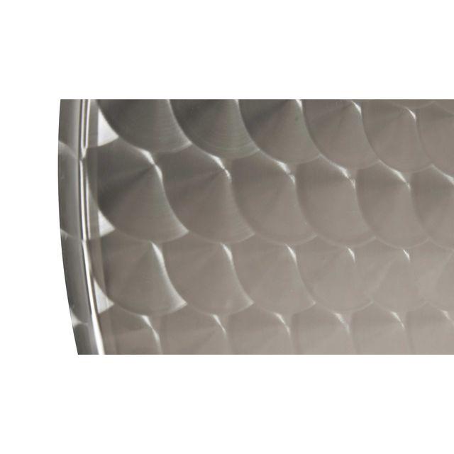 Table de jardin ronde en aluminium - Gris