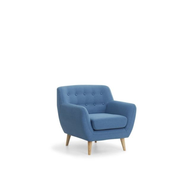 BELIANI Fauteuil en tissu - fauteuil tapissé bleu MOTALA - bleu