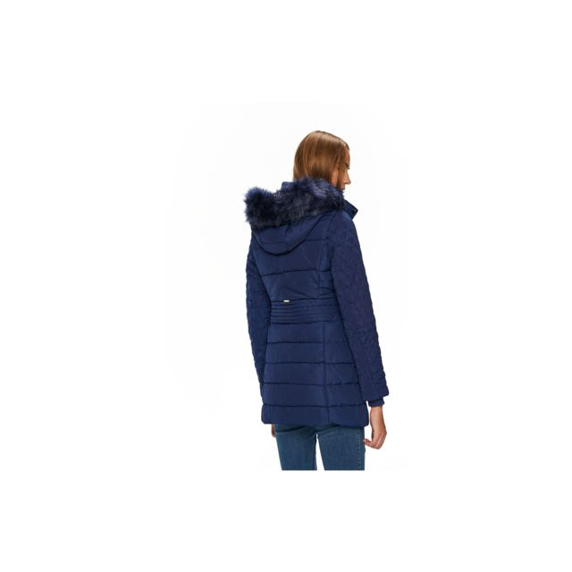 a75314a2e35 Guess - Doudoune Femme Suzanna Bleu - Taille - S - pas cher Achat   Vente  Blouson femme - RueDuCommerce