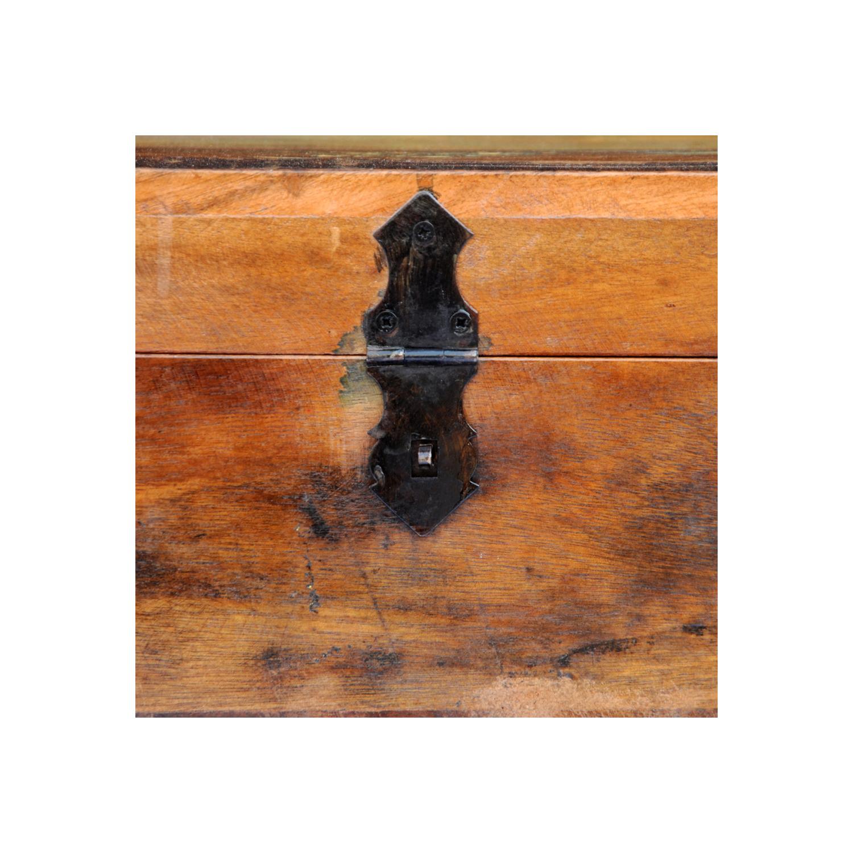 Rocambolesk - Superbe Coffre de stockage en bois recyclé solide Neuf