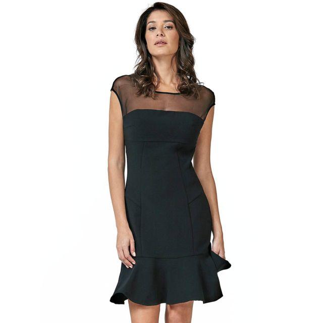 Guess Robe Femme Pepita W83K48 Noir Taille Xs pas