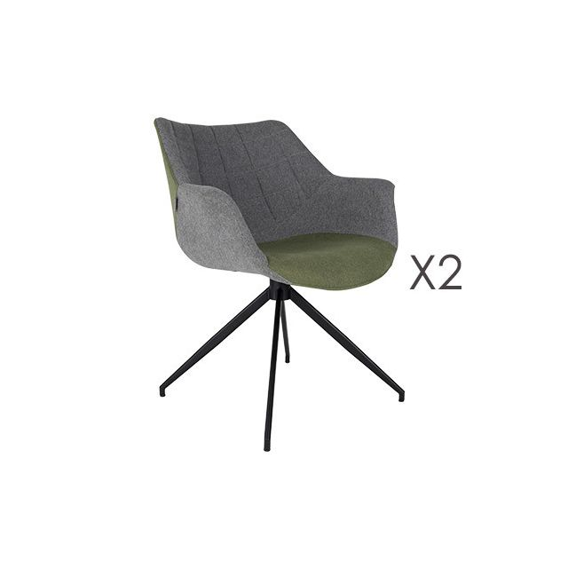 Lot de 2 fauteuils - vert