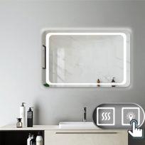 Miroir de salle de bain avec lumières Led 140x80cm LxH