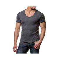 Young And Rich - Tee shirt col V plongeant 74 Gris