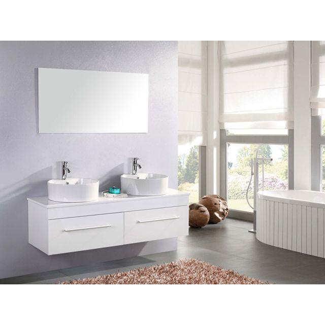 Simba - Meuble Salle de Bain Blanc Robinetterie Inc Set Vasque 150 ...
