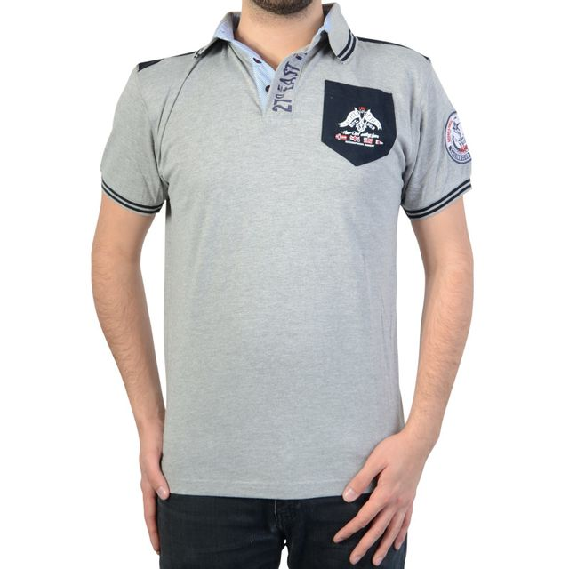 Geographical Norway Polo KABUTO Polo avec les manches courtes Homme gris GREY Geographical Norway soldes zTcvxP
