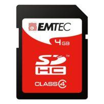 Emtec - Carte mémoire Sd 4 Go - classe 4