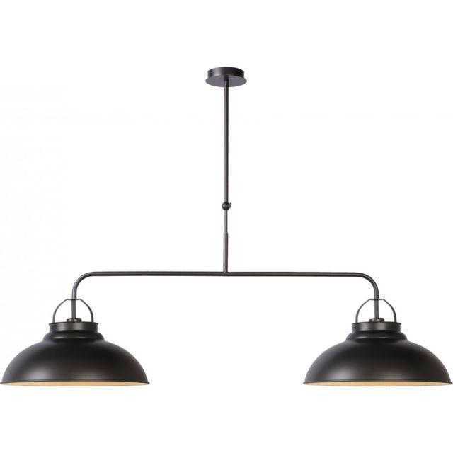 Métal 2 Lustre En Lampea Gris Lampes Pas Naïg Industriel Foncé WHIYbe2D9E