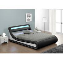 lit coffre 180x200 achat lit coffre 180x200 pas cher soldes rueducommerce. Black Bedroom Furniture Sets. Home Design Ideas