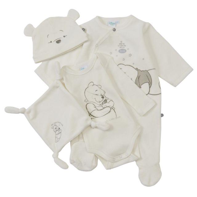 DISNEY BABY - Ensemble pyjama bébé + body + bonnet + doudou WINNIE ... 526a23d87a2
