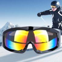 4093444b4e5ed Masque noir unisexe monocouche anti-buée anti-poussière protection anti-UV  lunettes sphériques