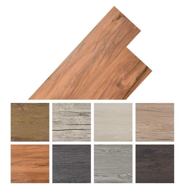 Vidaxl Planche de plancher Pvc autoadhésif 36 pcs 5,02 m² Marron chaud   Brun