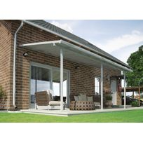 Palram - Toit de terrasse 540x300cm Polycarbonate Blanc Patio
