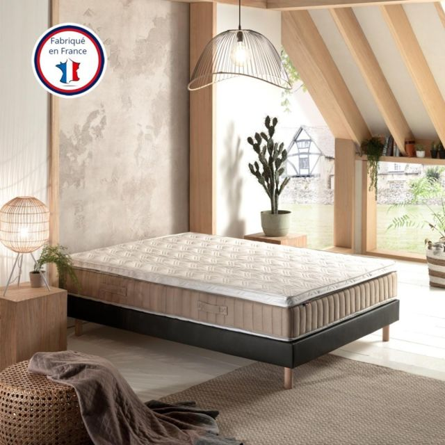 Incroyable Literie Elite 160x200   Surmatelas Mousse Soja Hr 35 kg haute qualité certifiée   Grand confort   Fabriqué en France