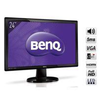 BENQ - Ecran 24'' LED 2ms Full HD VGA, DVI, HDMI, HP - GL2450HE
