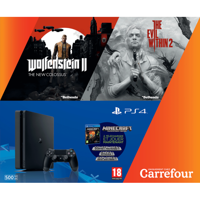 SONY - PACK Console PS4 500GO + 3 JEUX