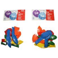 """Iden - Everts 48960-2 Geburtstagsballons """"X 10"""", 2 X 10 """"DANS Sachet"""