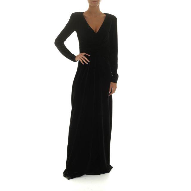 Armani Ea7 Emporio Armani Femme 6G2A8E2JW4Z0999 Noir Velours Robe