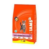 Iams - Croquettes au saumon - Toutes races - 3kg - Pour chat adulte