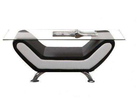 Marque Generique Table Indice en simili - Bicolore noir et blanc