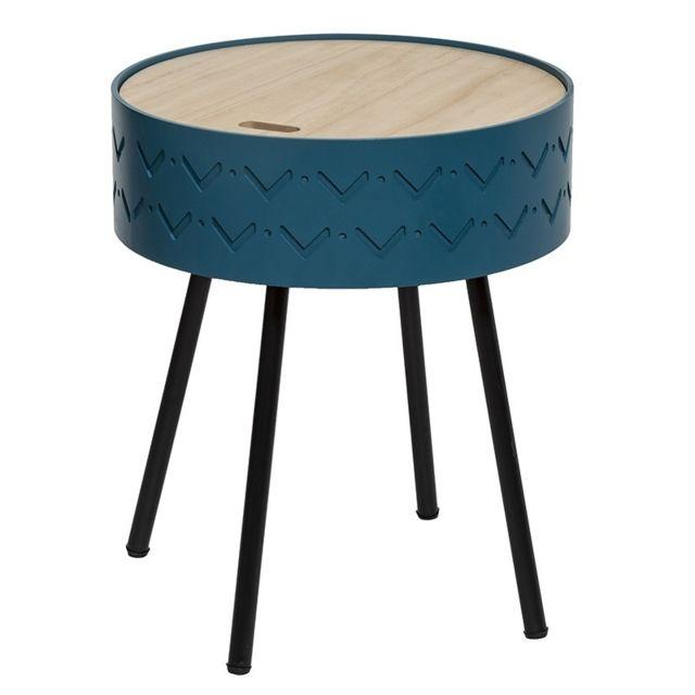 Atmosphera, Createur D'INTERIE Table à café coffre bleu Shiro Atmosphera